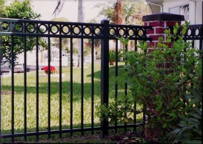 Steel and Aluminum Fence Installation