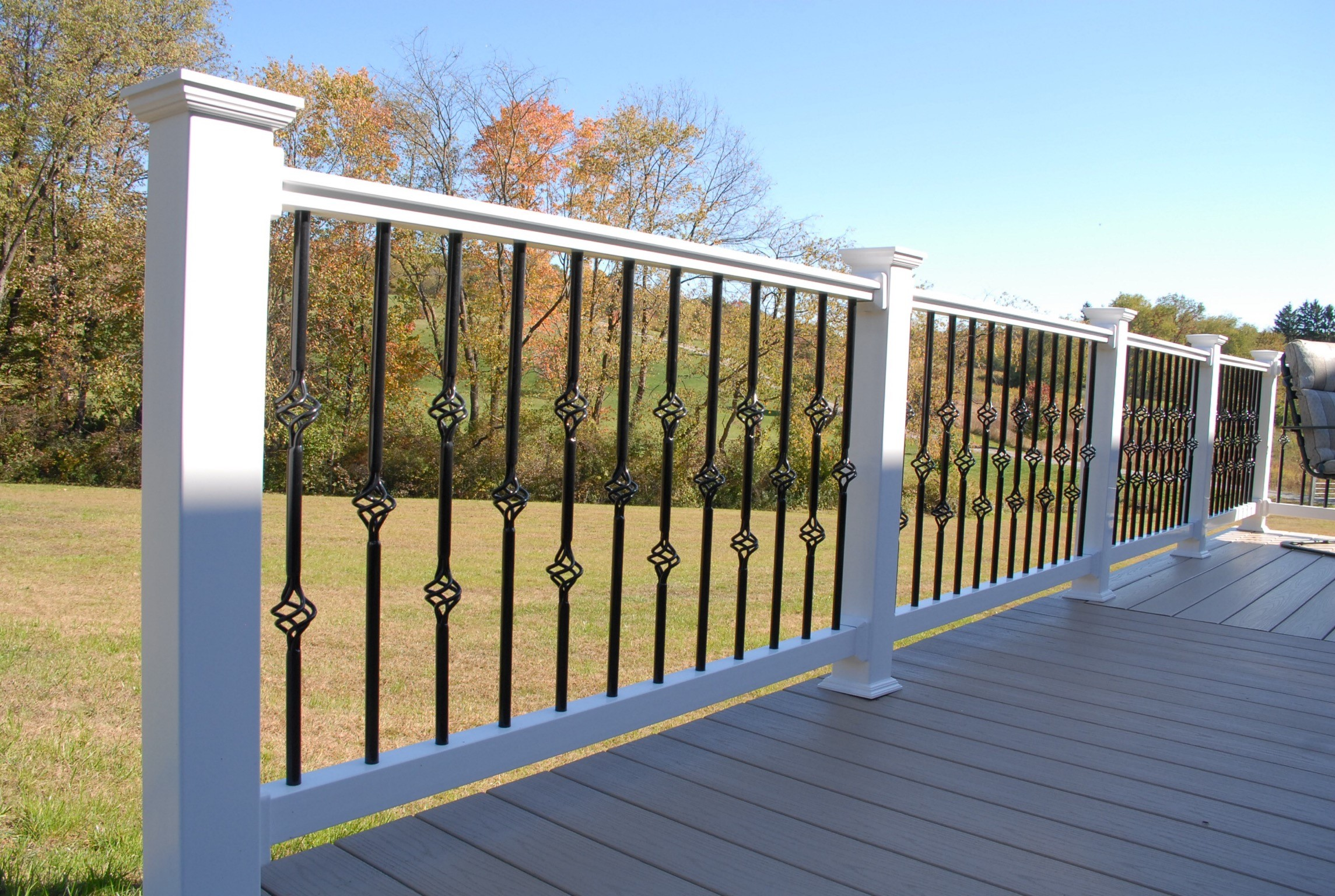 Pvc vinyl fences and railings american fence railing