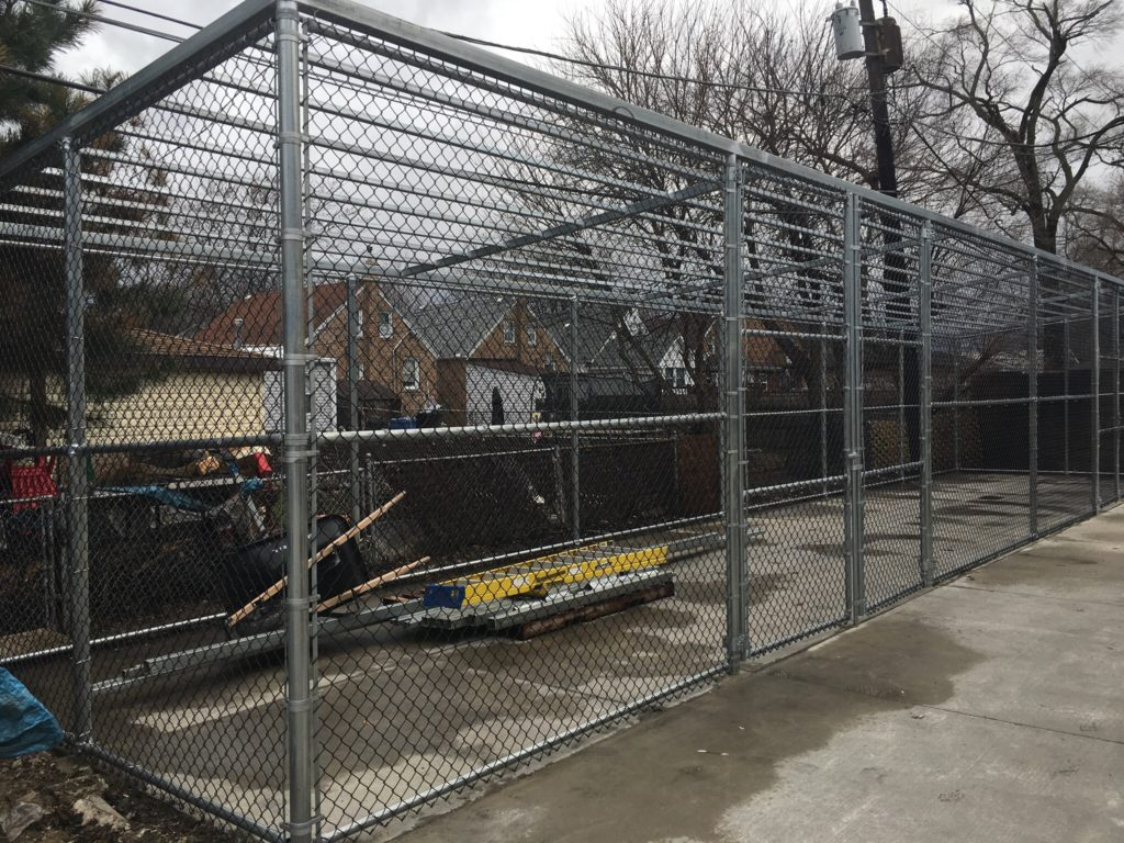 Chain Link Cage For An Ace Hardware Store American Fence